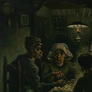 Een deel van het schilderij de Aardappeleters, 1885